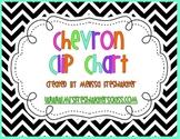 Black & White Chevron Behavior Clip Chart