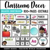 Black & White Chevron Classroom Decor