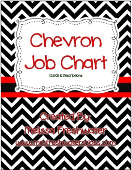 Black & White Chevron Classroom Job Duties