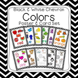 Black & White Chevron Learn My Colors Poster Set