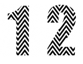 Black & White Chevron Numbers
