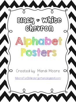 Black & White Chevron Posters