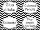 Black & White Chevron School Supply Labels