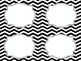 Black & White Chevron School Supply Labels