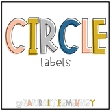 Black & White Circle Labels