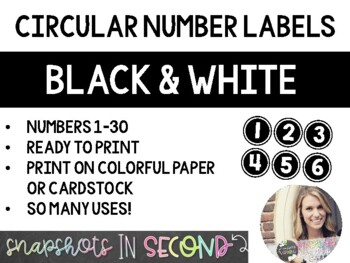 Black & White Circle Numbers