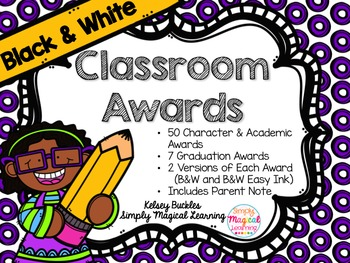 Black & White Classroom Awards