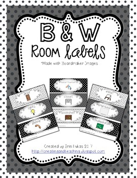 Black & White Classroom Labels