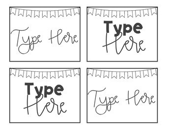 Black and White Classroom Labels EDITABLE