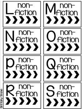 Black & White Classroom Library Labels; DRA, F & P, Lexile, AR, Genre, Topic