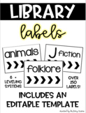 EDITABLE Classroom Library Labels: DRA, F & P, Lexile, AR, Genre, Topic