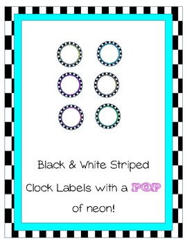 Black & White Clock Labels