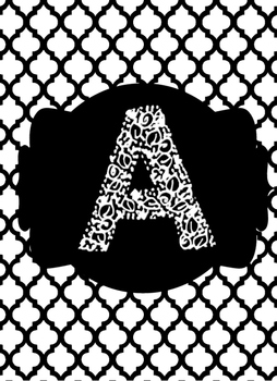 black white collection binder covers letter a by shanissee s