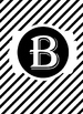 Black & White Collection Binder Covers- Letter B