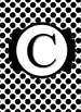 Black & White Collection Binder Covers- Letter C