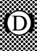 Black & White Collection Binder Covers- Letter D