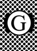Black & White Collection Binder Covers- Letter G