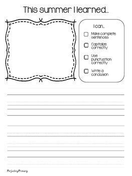 No Prep Writing Workbook August-December