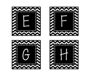 Black & White Decor: Alphabet Labels