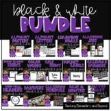 Modern Black and White Classroom Theme Decor Bundle