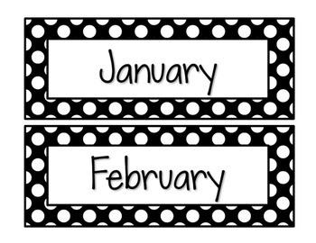 Black & White Decor: Calendar Set