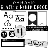 Black & White Decor - EDITABLE