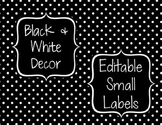 Black & White Decor: Editable Small Labels
