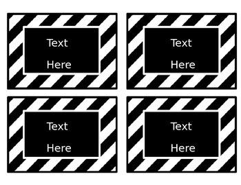 Black & White Decor: Editable Small Labels