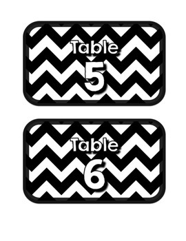 Black & White Decor: Table Numbers