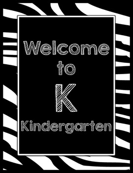 Black & White Decor: Welcome to ____ Grade Poster (Zebra)