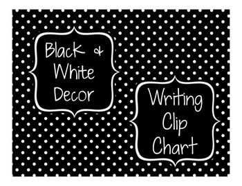 Black & White Decor: Writing Clip Chart