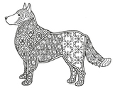 Shepherd Dog Zentangle Coloring Page
