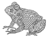 Amphibian Frog Zentangle Coloring Page