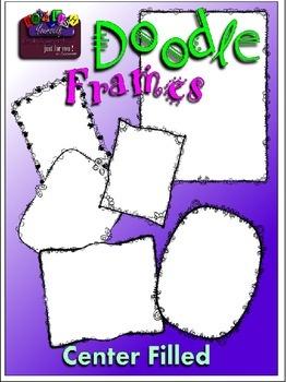 Doodle Frames Clipart (Embellish Yourself Artworks)