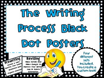 Black & White Dot Writing Process Posters