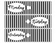 Black & White Drawer Labels