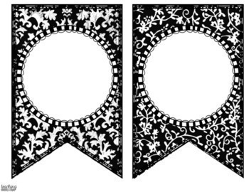 Black and White Editable Banner for Bulletin Board Displays