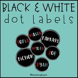 Black & White Editable Dot Labels