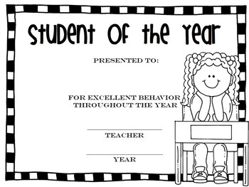 Black & White End of the Year Awards {editable}