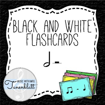 Black & White Flashcards: Half Note, Half Rest