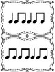 Black & White Flashcards: Quarter Note, Eighth Notes, Rests