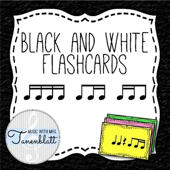 Black & White Flashcards: Sixteenth Notes