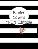Black & White / Floral Binder / File Covers
