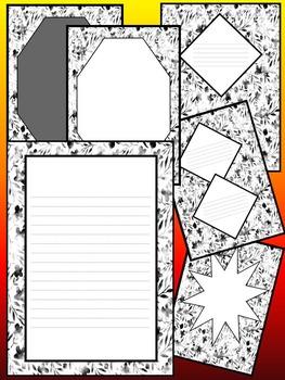 Frames - Writing paper - Black & White