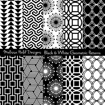 Black White Geometric Patterns By Scrapster By Melissa Held Designs