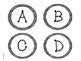 Black & White Gingham Circle Frames - Letters & Numbers