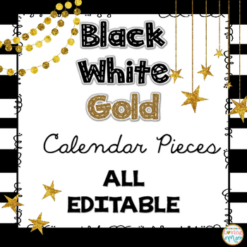 Calendar - Black White Gold