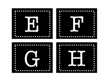 Black & White Guided Reading Book Labels A-Z