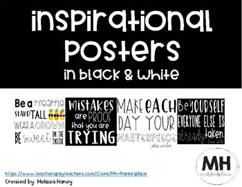 Black & White Inspirational Posters