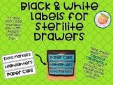 Black & White Labels for Sterilite Drawers